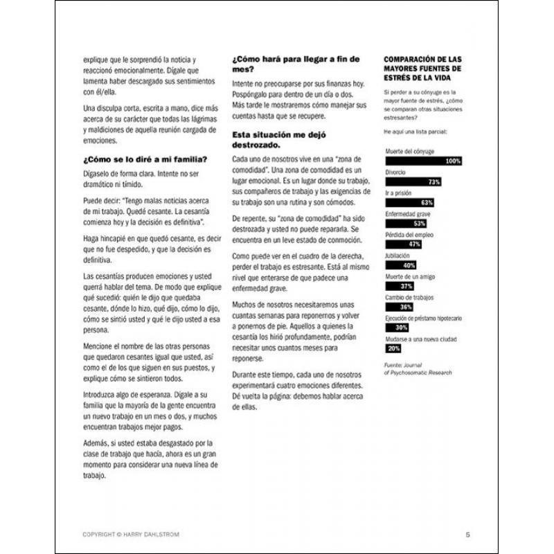 Cómo Sobrevivir a una Cesantía - Surviving a Layoff, Spanish